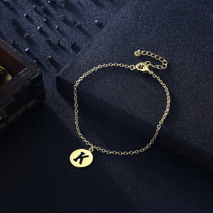 Letter K Bracelet in 18K Gold Plated, Gold Collection, Bracelet, Gold, Golden NYC Jewelry, Golden NYC Jewelry fashion jewelry, cheap jewelry, jewelry for mom,