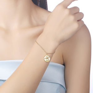 Thinking Baby Angel Bracelet in 18K Gold Plated