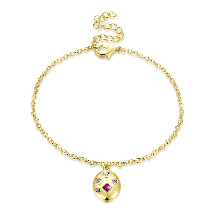 Collection of Ruby Bracelet in 18K Gold Plated, Gold Collection, Bracelet, Gold, Golden NYC Jewelry, Golden NYC Jewelry fashion jewelry, cheap jewelry, jewelry for mom,