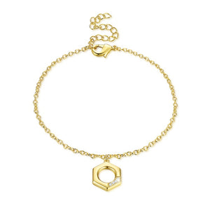 Swarovski Crystal Halo Bracelet in 18K Gold Plated - Golden NYC Jewelry www.goldennycjewelry.com fashion jewelry for women