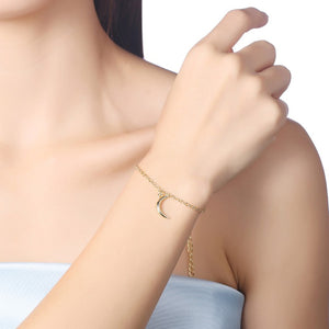 Moon Bracelet in 18K Gold Plated, Gold Collection, Bracelet, Gold, Golden NYC Jewelry, Golden NYC Jewelry fashion jewelry, cheap jewelry, jewelry for mom,