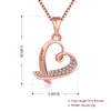 Pave Heart Necklace in 18K Rose Gold Plated