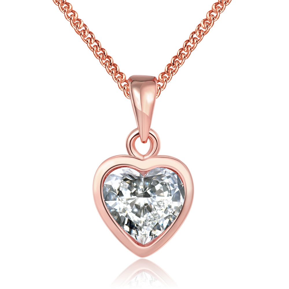Classic Heart Shaped Swarovski Elements Necklace, Necklaces, Golden NYC Jewelry, Golden NYC Jewelry  jewelryjewelry deals, swarovski crystal jewelry, groupon jewelry,, jewelry for mom,