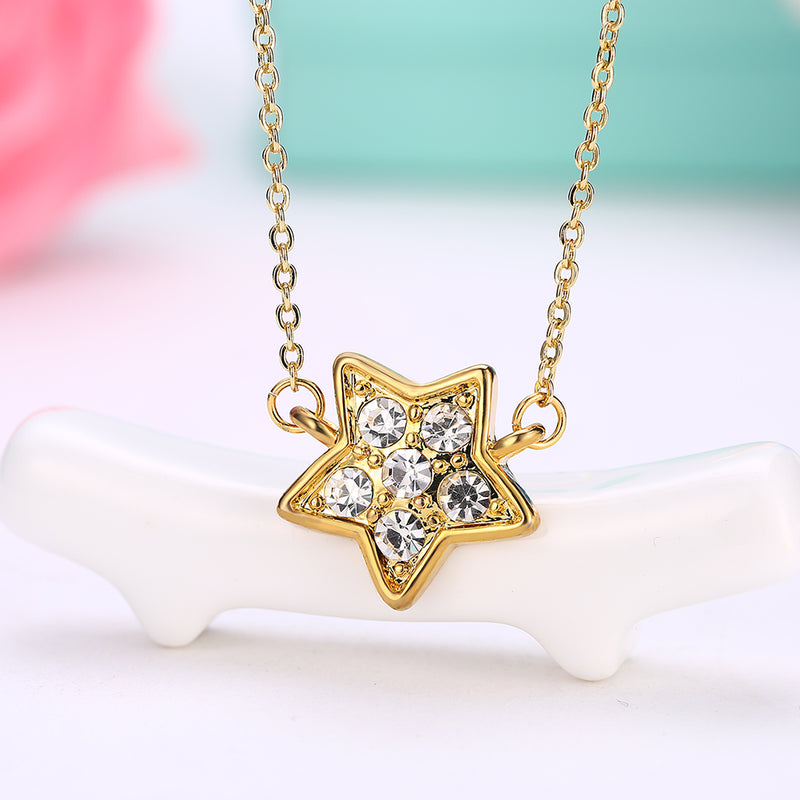 Pave Star Necklace in 18K Gold Plated