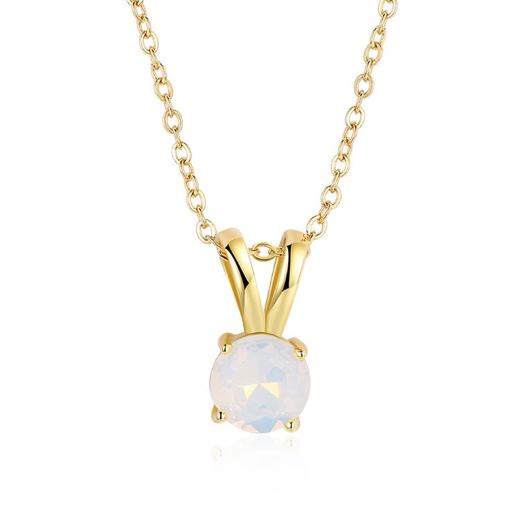Mock Opal Teardrop Pendant Gold Necklace, , Golden NYC Jewelry, Golden NYC Jewelry fashion jewelry, cheap jewelry, jewelry for mom,