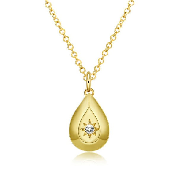 Celestial Drop Necklace Set in 18K Gold - Multi Options Available