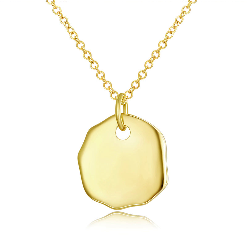 "Rock 18""-24"" Adjustable Necklace in 18K Gold Plated"