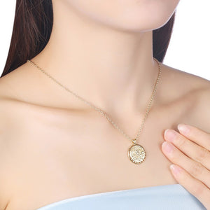 The Power of Sun Necklace in 18K Gold Plated - Golden NYC Jewelry www.goldennycjewelry.com fashion jewelry for women