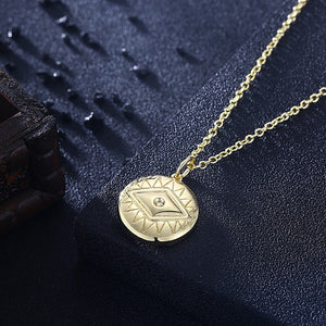 Evil Eye Necklace in 18K Gold Plated, Gold Collection, Necklace, Gold, Golden NYC Jewelry, Golden NYC Jewelry  jewelryjewelry deals, swarovski crystal jewelry, groupon jewelry,, jewelry for mom,