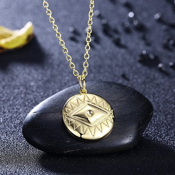 Evil Eye Necklace in 18K Gold Plated, Gold Collection, Necklace, Gold, Golden NYC Jewelry, Golden NYC Jewelry fashion jewelry, cheap jewelry, jewelry for mom,