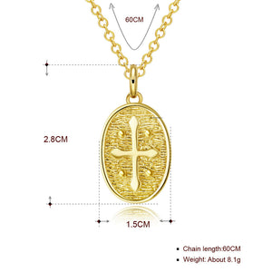 "Cross 18""-24"" Adjustable Necklace in 18K Gold Plated, Necklace, Golden NYC Jewelry, Golden NYC Jewelry  jewelryjewelry deals, swarovski crystal jewelry, groupon jewelry,, jewelry for mom,"