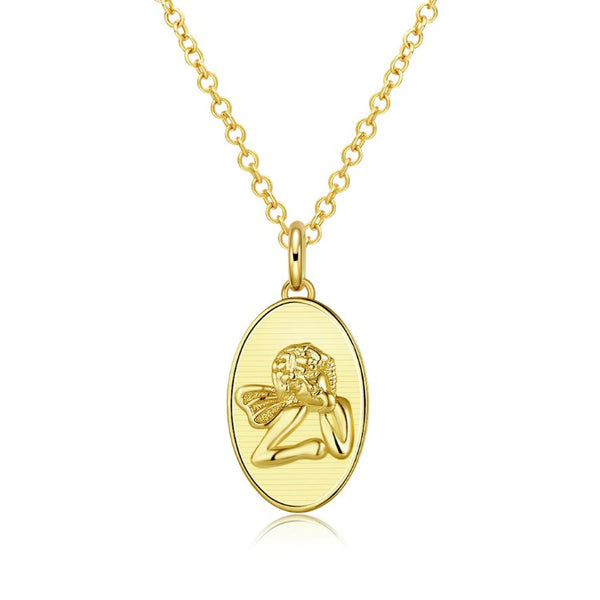 Baby Angel Necklace in 18K Gold Plated, Gold Collection, Necklace, Gold, Golden NYC Jewelry, Golden NYC Jewelry fashion jewelry, cheap jewelry, jewelry for mom,