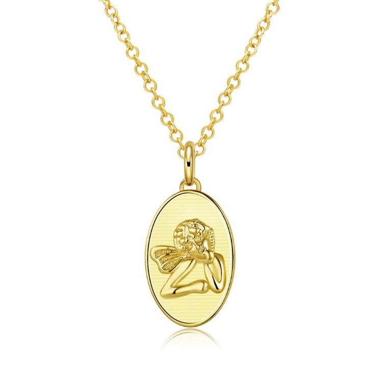 Baby Angel Necklace in 18K Gold Plated, Gold Collection, Necklace, Gold, Golden NYC Jewelry, Golden NYC Jewelry  jewelryjewelry deals, swarovski crystal jewelry, groupon jewelry,, jewelry for mom,