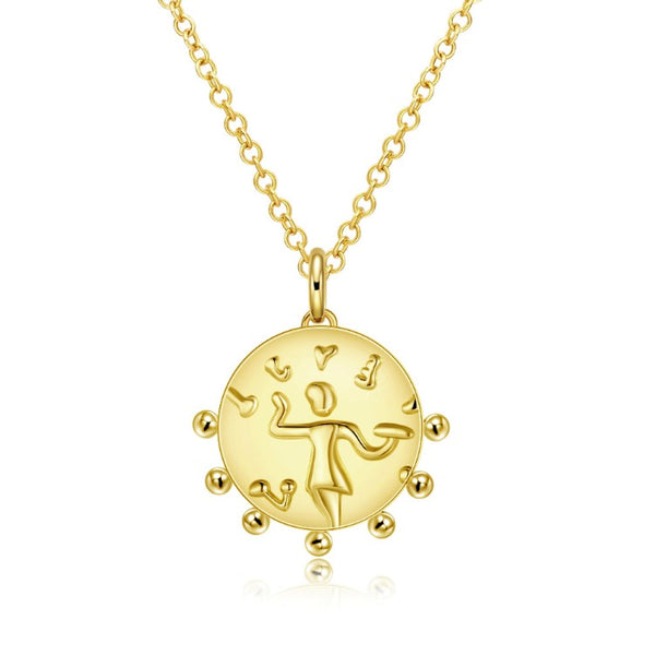 The Circle of Life Necklace in 18K Gold Plated - Golden NYC Jewelry www.goldennycjewelry.com fashion jewelry for women