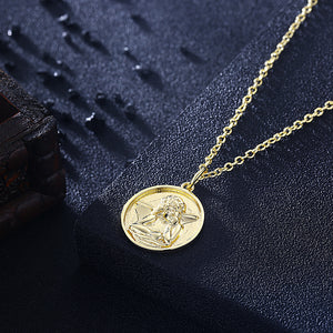 Angel From Above Necklace in 18K Gold Plated, Gold Collection, Necklace, Gold, Golden NYC Jewelry, Golden NYC Jewelry  jewelryjewelry deals, swarovski crystal jewelry, groupon jewelry,, jewelry for mom,