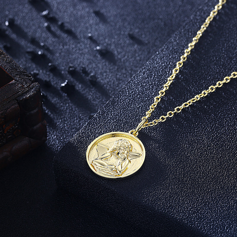 Angel From Above Necklace in 18K Gold Plated, Gold Collection, Necklace, Gold, Golden NYC Jewelry, Golden NYC Jewelry fashion jewelry, cheap jewelry, jewelry for mom,