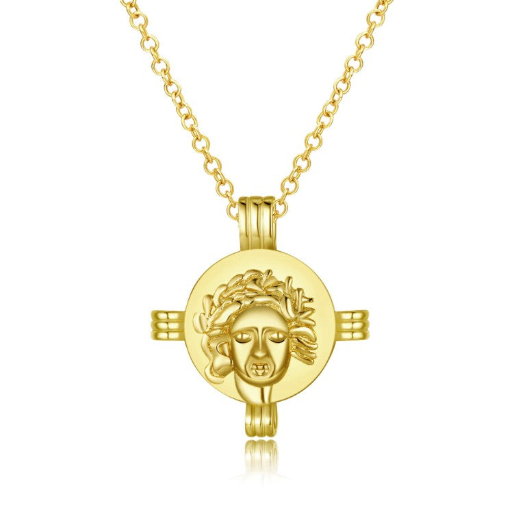 Greek Coin Cross Necklace in 18K Gold Plated, Gold Collection, Necklace, Gold, Golden NYC Jewelry, Golden NYC Jewelry fashion jewelry, cheap jewelry, jewelry for mom,