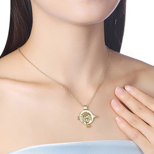 Greek Coin Cross Necklace in 18K Gold Plated, Gold Collection, Necklace, Gold, Golden NYC Jewelry, Golden NYC Jewelry  jewelryjewelry deals, swarovski crystal jewelry, groupon jewelry,, jewelry for mom,