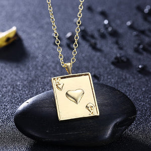 Cards Of Hearts Necklace in 18K Gold Plated, Gold Collection, Necklace, Gold, Golden NYC Jewelry, Golden NYC Jewelry  jewelryjewelry deals, swarovski crystal jewelry, groupon jewelry,, jewelry for mom,