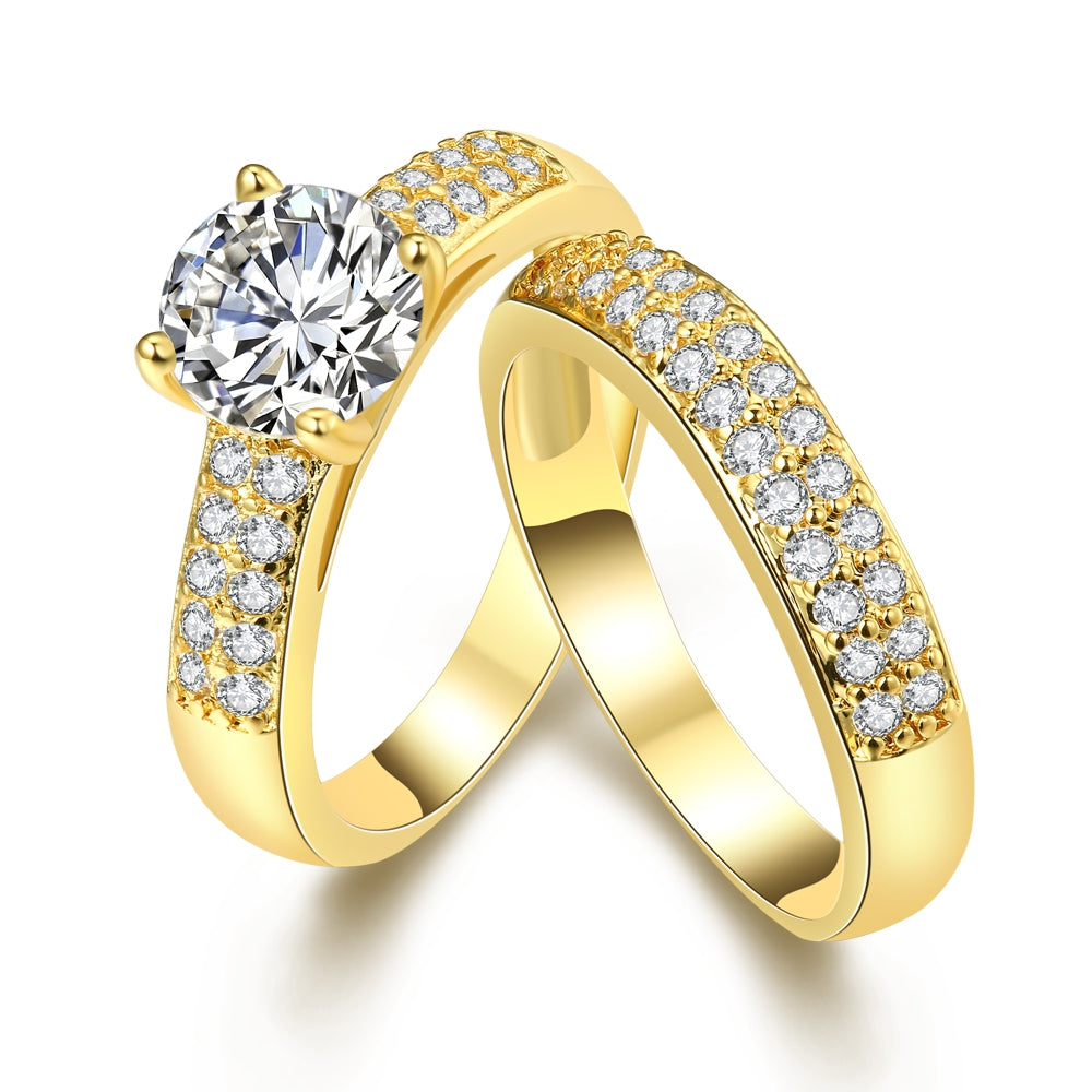 Swarovski Elements Duo 18K GoldRing
