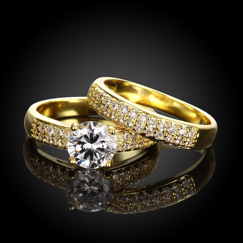 Austrian Elements Duo 18K GoldRing