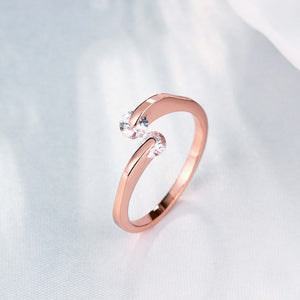 Together Forever Swarovski Crystal Ring Set in Rose Gold - Golden NYC Jewelry www.goldennycjewelry.com fashion jewelry for women