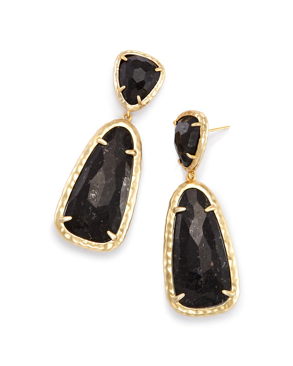 14K Gold Plated Teardrop Stone Drop Earrings - Golden NYC Jewelry www.goldennycjewelry.com fashion jewelry for women