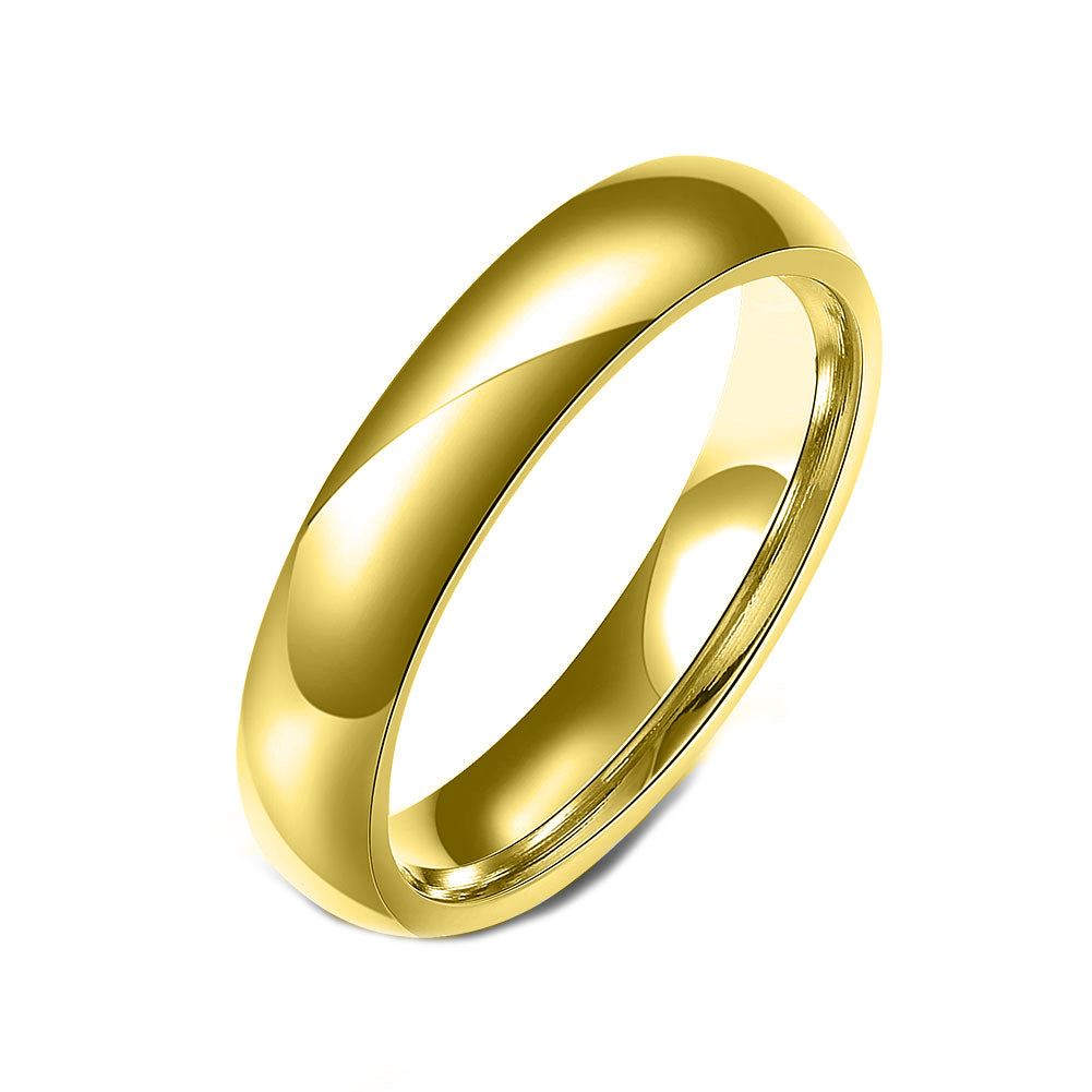 Stainless Steel Comfort Fit Unisex Band Ring - Golden NYC Jewelry www.goldennycjewelry.com fashion jewelry for women