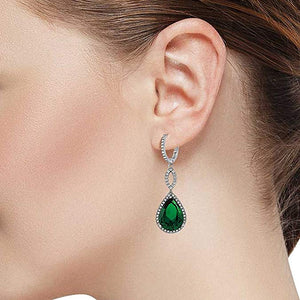 3.55 CTTW Pear Cut Gemstone Infinity Drop Earrings Made with Swarovski Elements, , Golden NYC Jewelry, Golden NYC Jewelry  jewelryjewelry deals, swarovski crystal jewelry, groupon jewelry,, jewelry for mom,