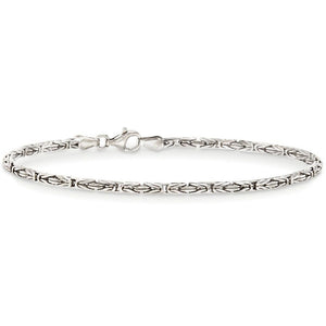 Byzantine Chain Bracelet in 18K White Gold Plated, Bracelet, Golden NYC Jewelry, Golden NYC Jewelry  jewelryjewelry deals, swarovski crystal jewelry, groupon jewelry,, jewelry for mom,