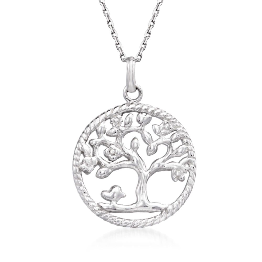 Classic Essential Tree Of Life Circular Pendant Necklace in 14K Gold Plating (Options Available), , Golden NYC Jewelry, Golden NYC Jewelry  jewelryjewelry deals, swarovski crystal jewelry, groupon jewelry,, jewelry for mom,