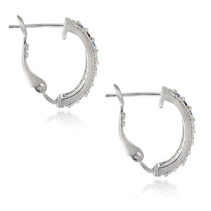 3.00 Ct Genuine Multi Gemstone Leverback Earring Embellished with Swarovski Crystals in 18K White Gold Plated, Earring, Golden NYC Jewelry, Golden NYC Jewelry  jewelryjewelry deals, swarovski crystal jewelry, groupon jewelry,, jewelry for mom,