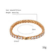 Iced Out 18K Gold Plated Tennis Bracelet 7.8""