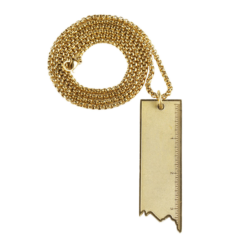 Ruler Pendant in 18K Gold Filled 23.5