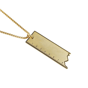 Ruler Pendant in 18K Gold Filled 23.5""