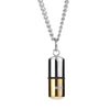 Cremation Cross 18K White Gold Filled Pendant Necklace - Gold
