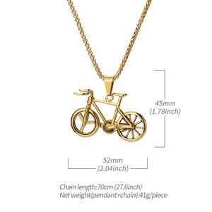 Crusin with my Bike Necklace in 18K Gold Filled with Chain