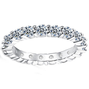 Muli Swarovski Sleek Mini Stone Band Ring