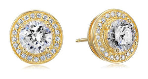 Halo Stud Earrings with Swarovski Crystals with FREE Gift Box, , Golden NYC Jewelry, Golden NYC Jewelry  jewelryjewelry deals, swarovski crystal jewelry, groupon jewelry,, jewelry for mom,