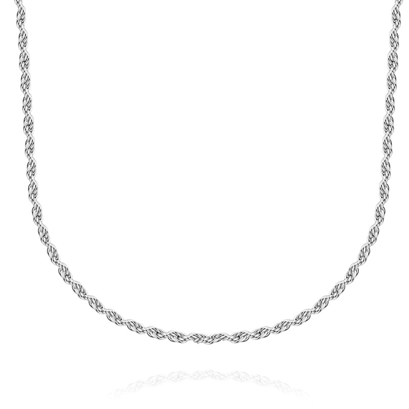 Stainless Steel 2mm Singapore Twist Chain Necklace