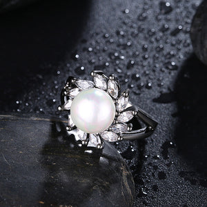 Freshwater Pearl Blossoming Cocktail Ring, , Golden NYC Jewelry, Golden NYC Jewelry  jewelryjewelry deals, swarovski crystal jewelry, groupon jewelry,, jewelry for mom,