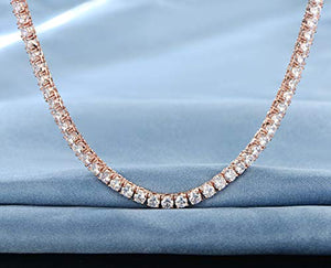 55 CTTW Swarovski Elements Tennis Necklace Set in 18K Gold (Multiple Options), , Golden NYC Jewelry, Golden NYC Jewelry  jewelryjewelry deals, swarovski crystal jewelry, groupon jewelry,, jewelry for mom,