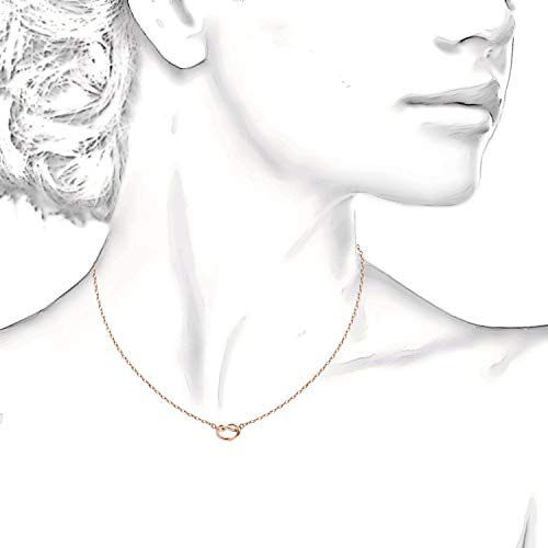 "Trendy Twist Necklace 18""  - 14K Rose Gold Plated"