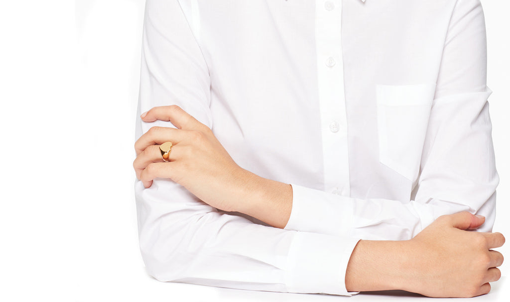 Heart Signet Ring in 18K Gold Plated, Ring, Golden NYC Jewelry, Golden NYC Jewelry  jewelryjewelry deals, swarovski crystal jewelry, groupon jewelry,, jewelry for mom,
