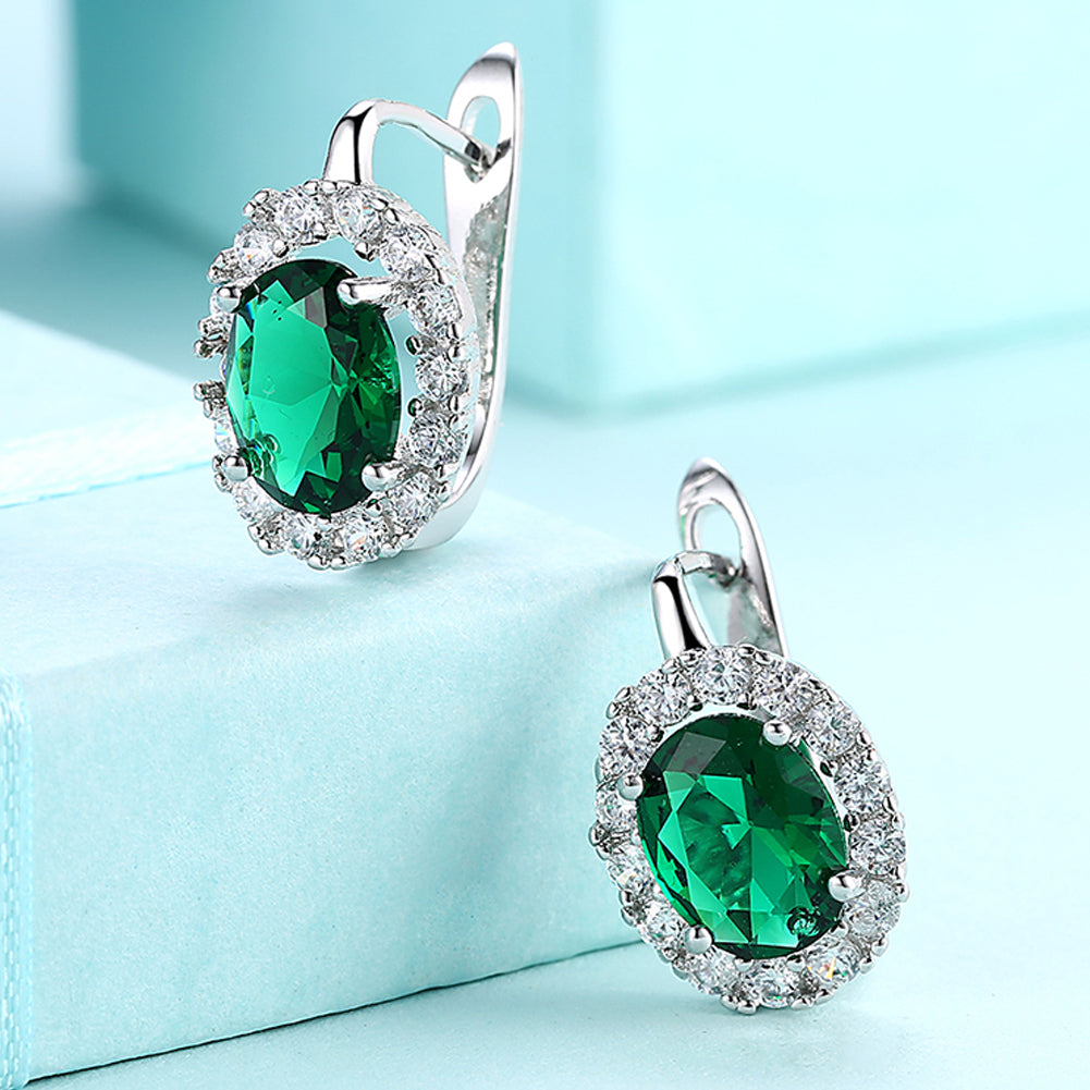 Green Swarovski Elements Leverback Earrings in 18K White Gold, Earring, Golden NYC Jewelry, Golden NYC Jewelry  jewelryjewelry deals, swarovski crystal jewelry, groupon jewelry,, jewelry for mom,