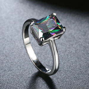 Classic Emerald Cut Ring in 18K White Gold, , Golden NYC Jewelry, Golden NYC Jewelry  jewelryjewelry deals, swarovski crystal jewelry, groupon jewelry,, jewelry for mom,