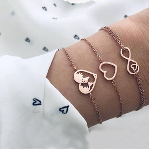 Love & Peace in the World Rose Gold 3 Piece Set