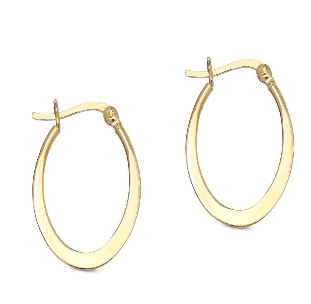 Sleek Roman Classic Hoops in 14K Gold Plating