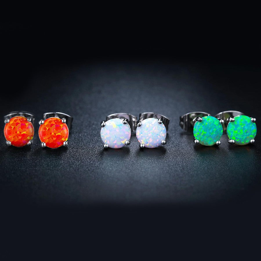 3 Piece Oceanic Bohemian Studs in 14K White Gold