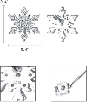 Snowflake for Winter Pave Stud Earrings